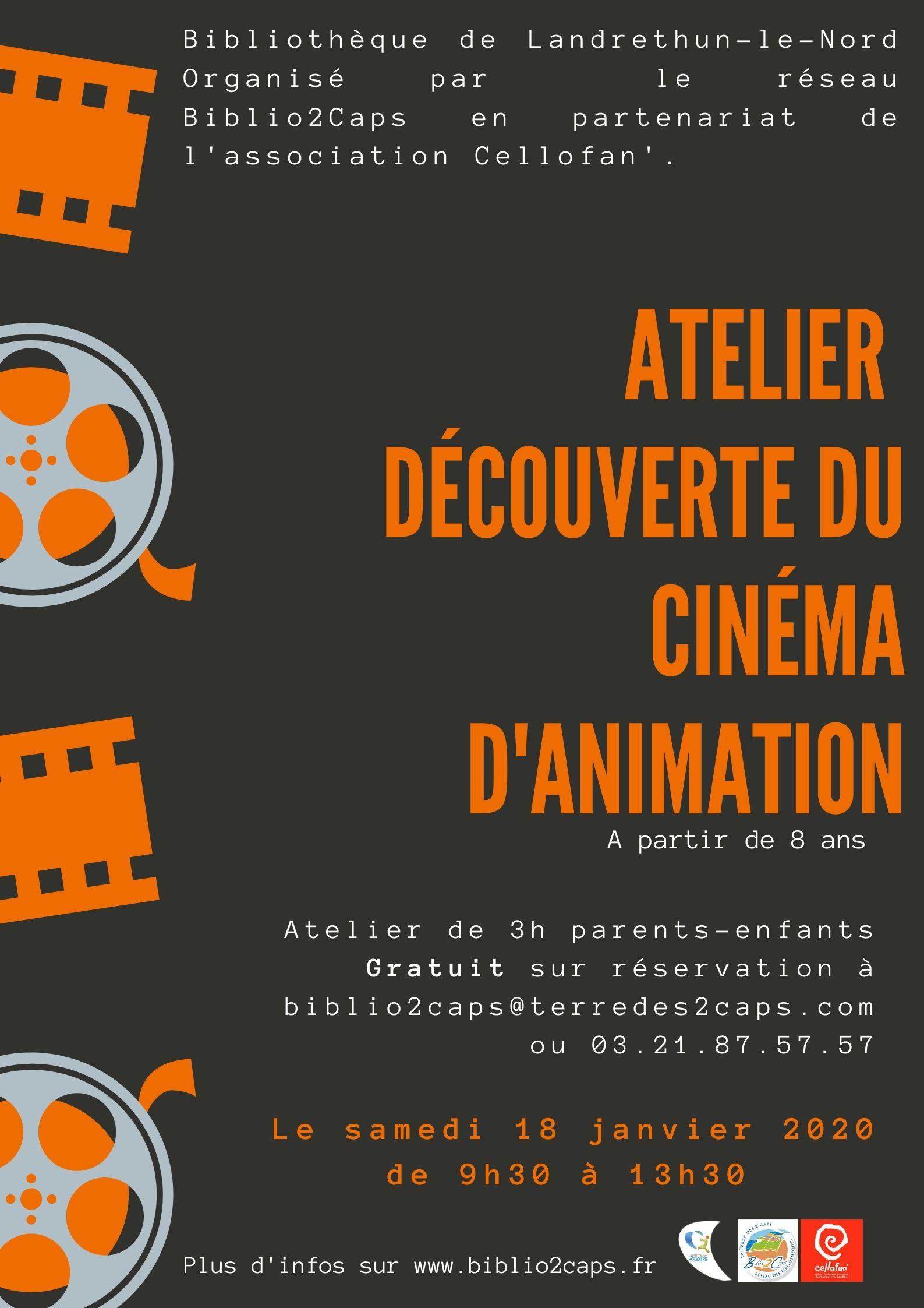 Atelier découverte du cinéma d'animation |